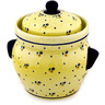 10-inch Stoneware Jar with Lid and Handles - Polmedia Polish Pottery H0349D