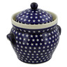 10-inch Stoneware Jar with Lid and Handles - Polmedia Polish Pottery H4447J