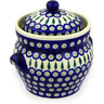 10-inch Stoneware Jar with Lid and Handles - Polmedia Polish Pottery H6979D