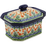 10-inch Stoneware Jar with Lid - Polmedia Polish Pottery H3942J