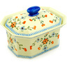 10-inch Stoneware Jar with Lid - Polmedia Polish Pottery H4198D