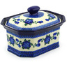 10-inch Stoneware Jar with Lid - Polmedia Polish Pottery H4302F