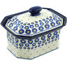 10-inch Stoneware Jar with Lid - Polmedia Polish Pottery H6148H