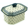 10-inch Stoneware Jar with Lid - Polmedia Polish Pottery H6170H