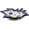 10-inch Stoneware Leaf Shaped Bowl - Polmedia Polish Pottery H1735K