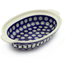10-inch Stoneware Oval Baker with Handles - Polmedia Polish Pottery H6066J