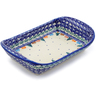 10-inch Stoneware Platter with Handles - Polmedia Polish Pottery H1029F