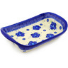 10-inch Stoneware Platter with Handles - Polmedia Polish Pottery H5184F