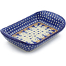10-inch Stoneware Platter with Handles - Polmedia Polish Pottery H8771E