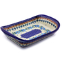 10-inch Stoneware Platter with Handles - Polmedia Polish Pottery H8973I