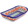 10-inch Stoneware Platter with Handles - Polmedia Polish Pottery H9005I