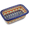 10-inch Stoneware Rectangular Baker with Handles - Polmedia Polish Pottery H2399K