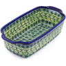 10-inch Stoneware Rectangular Baker with Handles - Polmedia Polish Pottery H2892D