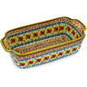 10-inch Stoneware Rectangular Baker with Handles - Polmedia Polish Pottery H2895D