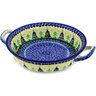 10-inch Stoneware Round Baker with Handles - Polmedia Polish Pottery H1406D