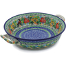 10-inch Stoneware Round Baker with Handles - Polmedia Polish Pottery H2813J
