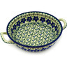 10-inch Stoneware Round Baker with Handles - Polmedia Polish Pottery H3805D