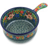 10-inch Stoneware Round Baker with Handles - Polmedia Polish Pottery H3988K