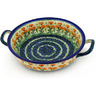 10-inch Stoneware Round Baker with Handles - Polmedia Polish Pottery H5667B