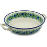 10-inch Stoneware Round Baker with Handles - Polmedia Polish Pottery H5756A