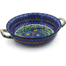10-inch Stoneware Round Baker with Handles - Polmedia Polish Pottery H6714J