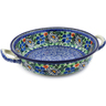 10-inch Stoneware Round Baker with Handles - Polmedia Polish Pottery H6725J