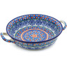 10-inch Stoneware Round Baker with Handles - Polmedia Polish Pottery H6822J