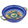 10-inch Stoneware Round Baker with Handles - Polmedia Polish Pottery H8370F