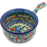10-inch Stoneware Round Baker with Handles - Polmedia Polish Pottery H8494J