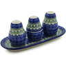 10-inch Stoneware Salt and Pepper with Toothpick Holder - Polmedia Polish Pottery H3701A