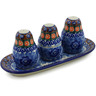 10-inch Stoneware Salt and Pepper with Toothpick Holder - Polmedia Polish Pottery H3703A