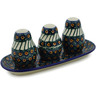 10-inch Stoneware Salt and Pepper with Toothpick Holder - Polmedia Polish Pottery H9561A