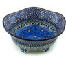 10-inch Stoneware Scalloped Bowl - Polmedia Polish Pottery H1112H