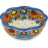10-inch Stoneware Scalloped Fluted Bowl - Polmedia Polish Pottery H0799H