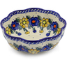 10-inch Stoneware Scalloped Fluted Bowl - Polmedia Polish Pottery H0806F