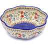 10-inch Stoneware Scalloped Fluted Bowl - Polmedia Polish Pottery H2709J