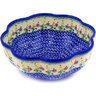 10-inch Stoneware Scalloped Fluted Bowl - Polmedia Polish Pottery H3512E