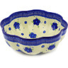 10-inch Stoneware Scalloped Fluted Bowl - Polmedia Polish Pottery H6334F