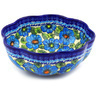 10-inch Stoneware Scalloped Fluted Bowl - Polmedia Polish Pottery H6367F
