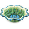 10-inch Stoneware Scalloped Fluted Bowl - Polmedia Polish Pottery H6440G
