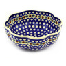 10-inch Stoneware Scalloped Fluted Bowl - Polmedia Polish Pottery H6779F