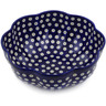 10-inch Stoneware Scalloped Fluted Bowl - Polmedia Polish Pottery H7818G