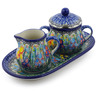 10-inch Stoneware Sugar and Creamer Set - Polmedia Polish Pottery H3022I