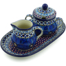 10-inch Stoneware Sugar and Creamer Set - Polmedia Polish Pottery H4143J