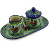 10-inch Stoneware Sugar and Creamer Set - Polmedia Polish Pottery H5897E