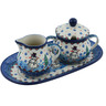 10-inch Stoneware Sugar and Creamer Set - Polmedia Polish Pottery H9950H