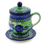 10 oz Stoneware Brewing Mug - Polmedia Polish Pottery H6216B
