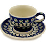 10 oz Stoneware Cup with Saucer - Polmedia Polish Pottery H0616D