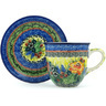 10 oz Stoneware Cup with Saucer - Polmedia Polish Pottery H5153H