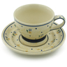 10 oz Stoneware Cup with Saucer - Polmedia Polish Pottery H5306C